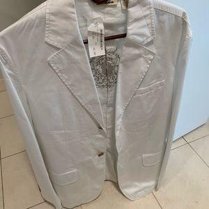 Men's DKNY White Cotton Blazer